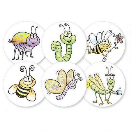 Fun Bugs Envelope Seals  (6 Designs)