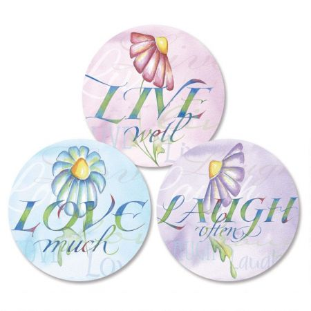 Live, Love, Laugh Envelope Seals   (3 Designs)