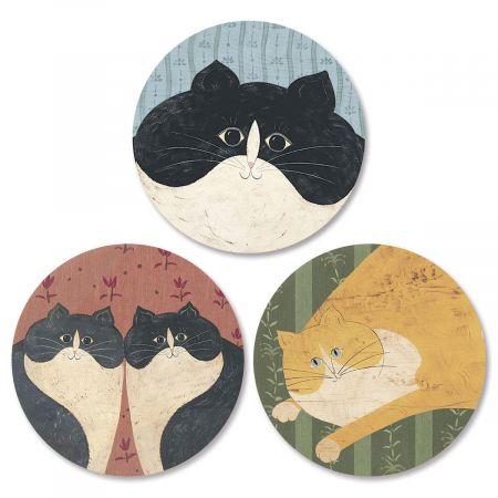 Cozy Cats Envelope Seals   (3 Designs)