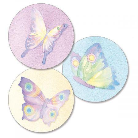 Watercolor Wings Envelope Seals   (3 Designs)