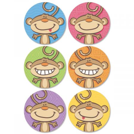 Monkey Envelope Seals  (6 Designs)
