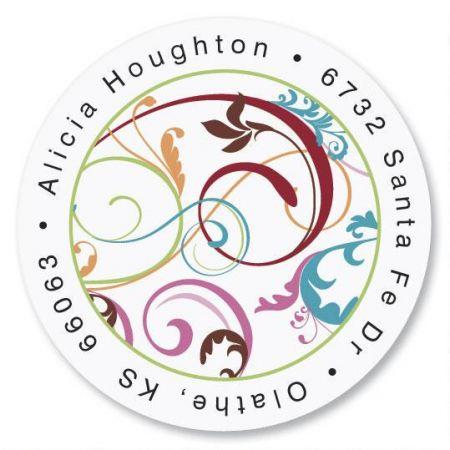 Fantasia Round Return Address Labels