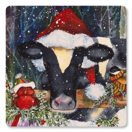 Christmas Cow Envelope Seals