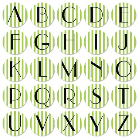 Stripes Initial Round Return Address Labels