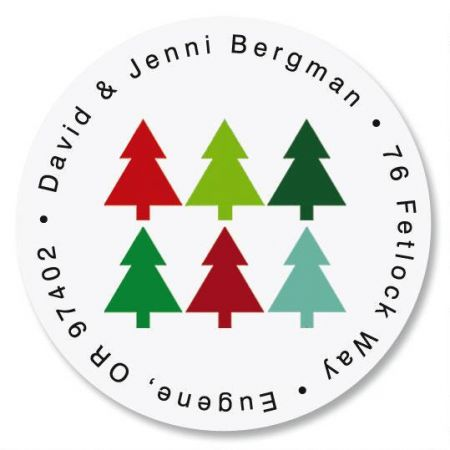 Oh, Christmas Tree  Round Return Address Labels