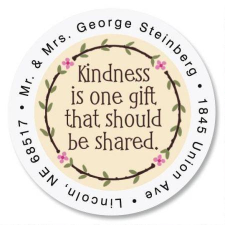 Kindness Round Return Address Labels