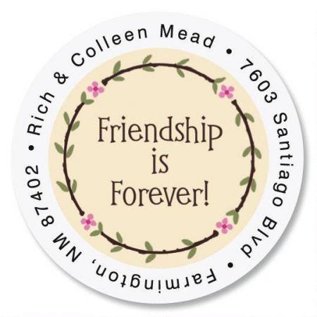 Friendship Round Return Address Labels