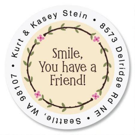 Smile Round Return Address Labels