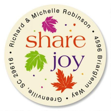 Touch of Fall  Round Address Labels