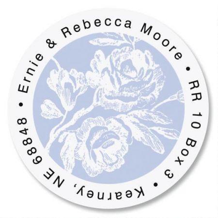 Rose Branch Round Address Labels
