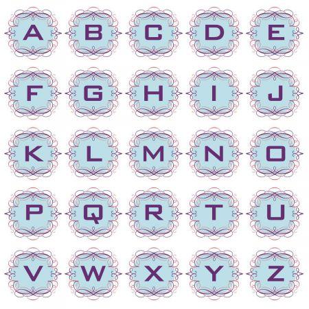 Cartouche Round Address Labels