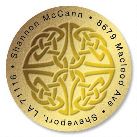 Celtic Knot Round Return Address Labels