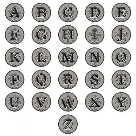 Embossed-Look Initial Round Return Address Labels