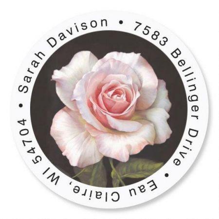 Pretty in Pink Round Return Address Labels