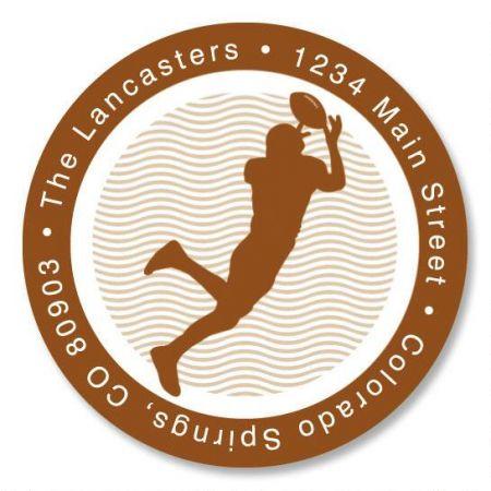 Sports  Round Return Address Labels  (6 Designs)