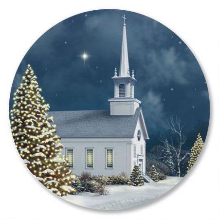 Christmas Church Envelope Seals