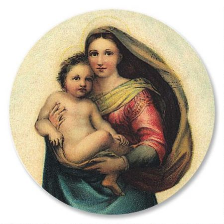 Madonna and Child Envelope Seals