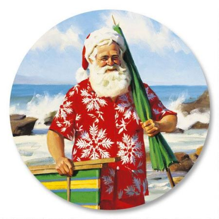 Sun, Surf, and Santa Envelope Seals