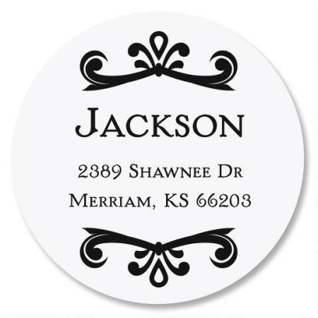 Scroll Name Round Address Labels