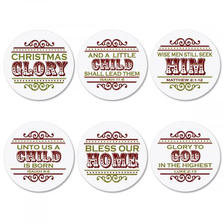 Christmas Glory Envelope Seals  (6 Designs)