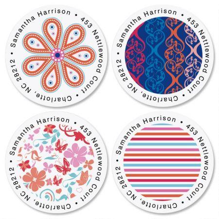 Fresh Melon Round Return Address Labels  (4 Designs)