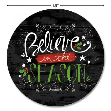Believe In The Season Envelope Seals