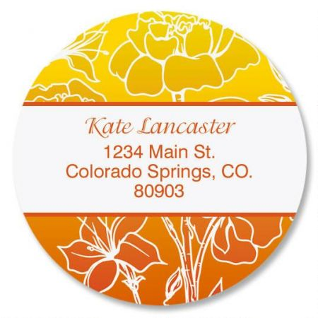 Sunny Round Return Address Labels