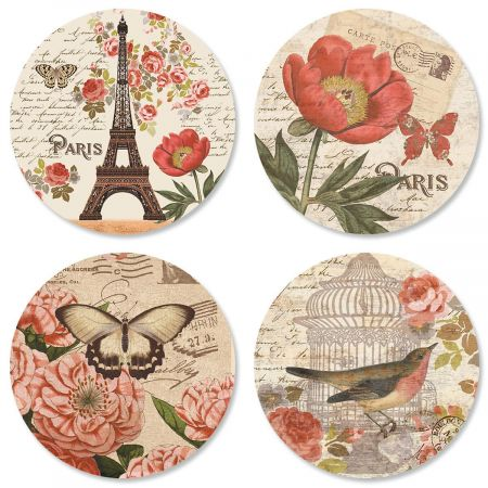 Parisian Postcard Envelope Seals (4 Designs)