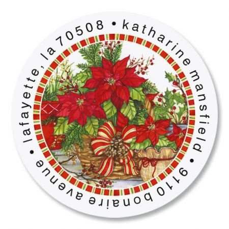 Festive Foliage Round Return Address Labels