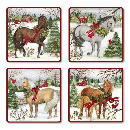 Winter Horses Envelope Seals (4 Designs)