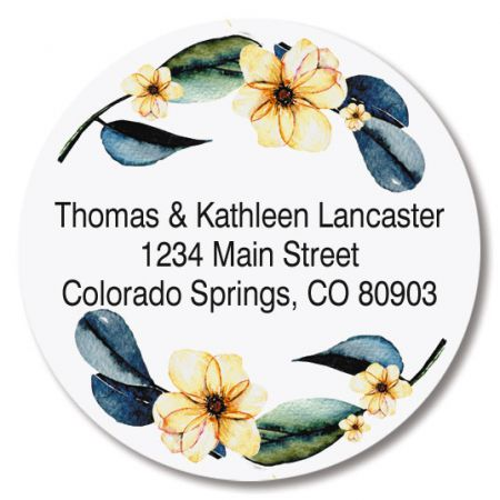 Fresh Pick Round Return Address Labels