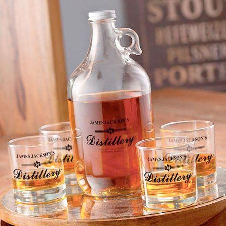 Distillery Personalized Growler Set