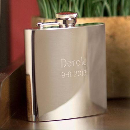 Stainless Steel Personalized Flask