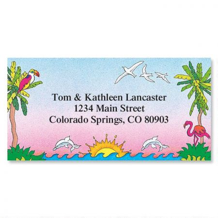 Sun 'n Surf Border Return Address Labels