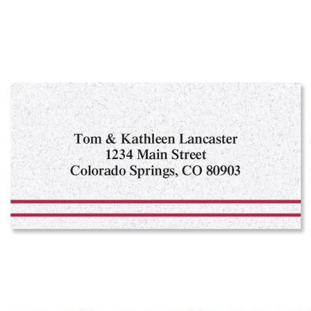 Burgundy Stripe Border Address Labels