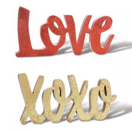 XOXO and Love Wooden Table Blocks