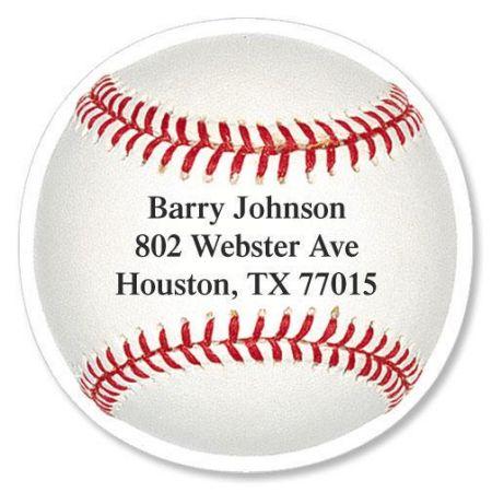 Baseball Diecut Return Address Labels