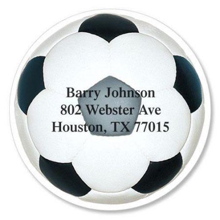 Soccer Ball Diecut Return Address Labels