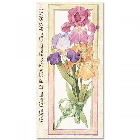 Sandi's Irises Oversized Return Address Labels