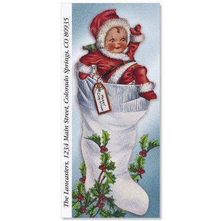 Victorian Christmas Supersized Return Address Labels