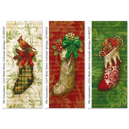 Christmas Stockings Supersized Return Address Labels