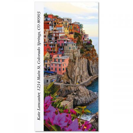 Cinque Terre Coast  Oversized Return Address Labels