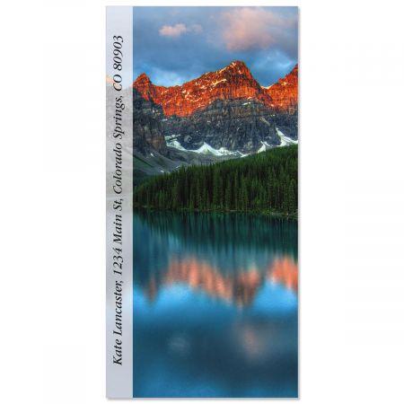 Mountain Lake Sunrise  Oversized Return Address Labels