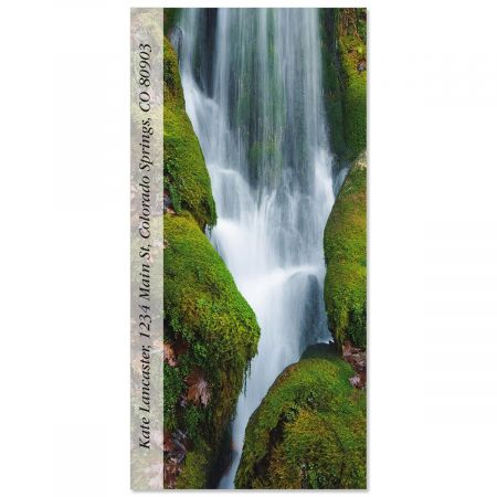 Creek Waterfall  Oversized Address Labels
