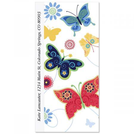 Delicate Butterflies Oversized Return Address Labels