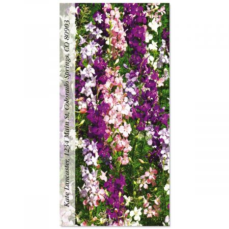 Delphinium Oversized Return Address Labels