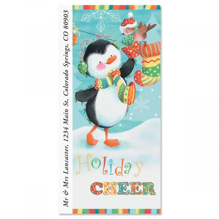 Holiday Cheer Oversized Return Address Labels