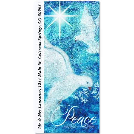 Peace Doves Oversized Return Address Labels
