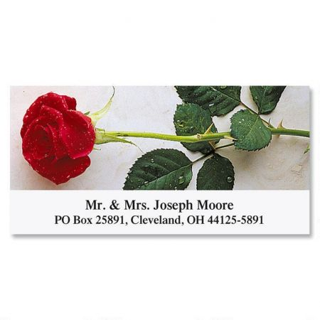 Perfect Rose Deluxe Return Address Labels