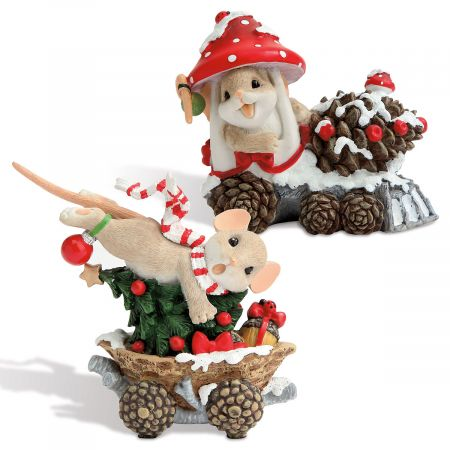 Christmas Train Figurines by Charming Tails®